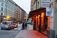 Fridhemsgatan (reidab) Tags: street red se restaurant sweden stockholm 50 stockholmsln