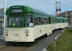 20160618 Blackpool Twin-Car at Starr Gate (blackpoolbeach) Tags: car twin tram streetcar blackpool starrgate terminus 675 685