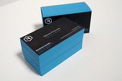 Black Business Card with Edge Color