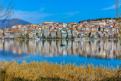 The most beautiful walks have color ... (dimitrisrentis) Tags: kastoria lake landscape city colour architecture nature hellas macedonia greece macedonian makedonia timeless