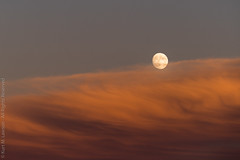 Emergence (Kurt Lawson) Tags: sunset sky moon clouds portland evening sony maine full moonrise 70200 allrightsreserved alpenglow emerge copyrighted a7r2