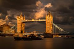 Last Light (Grumpysumpy) Tags: longexposure travel light sunset london clouds towerbridge river boat thamesriver lastlight leicam 50mmsummiluxaspheric