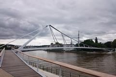 La Belle Ligeoise (Lige 2016) (LiveFromLiege) Tags: bridge river belgique pont liege parc luik meuse lige wallonie passerelle lieja lttich liegi boverie labelleligeoise