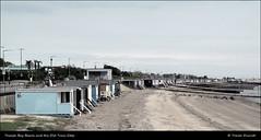 Beach, Estuary & Mudflats: Thorpe Bay Beach and the Old Tram Stop IMG_0016 (Trevor Durritt) Tags: england beach photoshop cutout coast essex beachhuts southendonsea thorpebay duochrome countyofessex digitalcompactcamera canonpowershotsx150is trevordurritt