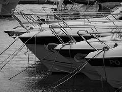 Big,bigger.... (Daniel C. Brunner) Tags: bnw blackandwhite bw blackwhite boat yacht porec croatia schwarzweis mft lumixg holiday mono monochrom