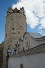 Eulenspiegelturm im Schlo Bernburg (steffenz) Tags: germany deutschland lenstagged sony 21mm 2016 nex saxonyanhalt sachsenanhalt samyang bernburg steffenzahn nex6 samyang21mm samyang21mm114umccse