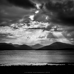 Breaking Through (w.mekwi photography [here & there]) Tags: sunset sunlight landscape outdoors scotland hills rays trossachs lochlomond breakingthrough milarrochybay nikond800 wmekwiphotography