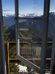 Freshly painted frames (D. Inscho) Tags: washington restoration firelookout picketrange