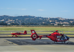 aviator's red (pbo31) Tags: california red color june spring airport nikon flight medical helicopter bayarea eastbay reach emergency livermore municipal alamedacounty 2016 boury pbo31 d810
