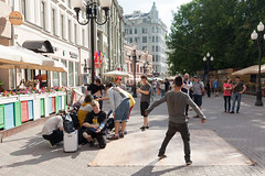 Breakdance crew on the Arbat Street (Evgeny Ermakov) Tags: show street boy summer people sun boys daylight dance artist dancers dancing russia moscow crowd culture sunny dancer crew teenager daytime breakdance easterneurope crowded touristic arbat subculture arbatstreet
