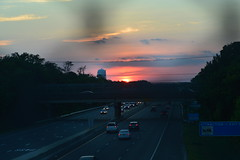Sunset over the AC Expressway (seanbeebe_photo) Tags: sunset newjersey nj atlanticcity expressway ac westbound