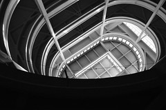 Spirale - Spiral. (sinetempore) Tags: biancoenero balckandwhite spirale spiral rampa ramp luce light astrattismo abstract abstractionism lingotto torino turin exstabilimentofiat