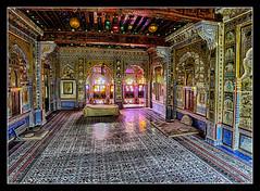 Jodhpur IND - Mehrangarh Fort Royal Bedroom 02