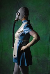 Alice in Wasteland 1 (MissCassandra) Tags: blue white mask cosplay gas gloves latex aliceinwasteland