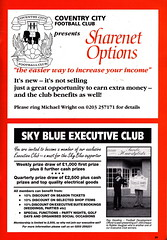 Coventry City vs Luton Town - 1991 - Page 39 (The Sky Strikers) Tags: road city blue sky magazine one town official division coventry pound peugeot league luton barclays highfield matchday