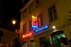 Oculista Machado (Jens_T) Tags: portugal lissabon typo nachtaufnahmen gebaude