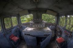 mit der Bahn ins Grne ... (Foto_Fix_Automat) Tags: abandoned foto eisenbahn fisheye bahn urbanexploring verlassen urbex marode