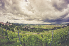before the thunder (Schub@) Tags: clouds germany landscape deutschland sony wolken fisheye 8mm landschaft walimex f28 samyang winnenden remsmurr remsmurrkreis a6000 brg