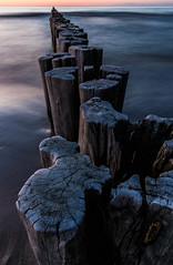 groynes ([-ChristiaN-]) Tags: longexposure sunset sea beach water dawn shoreline balticsea tokina le shore pro 116 dx groynes atx groins langzeitbelichtung buhnen lzb tokinaatx116prodx atx116prodx