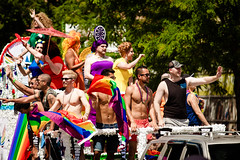 Chicago Gay Pride Parade 2016 (Chicago_Tim) Tags: gay shirtless usa chicago sexy guy lesbian drag illinois colorful underwear pride parade celebration queens lgbt speedo trans swimsuit queer boystown 2016