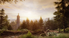 VOEC - 056 (Screenshotgraphy) Tags: bridge sunset sky mountain lake game nature water colors architecture clouds contrast forest montagne landscape soleil pc screenshot gare lumire couleurs country lac ethan steam gaming ciel beaut carter concept nuages paysage vanishing campagne foret beautifull jeu naturelle urbain 1440p