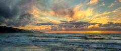 Tasman Tones (Joe Nelley) Tags: ocean sunset newzealand seascape beach beautiful waves shore reef tasmansea  hdr highdynamicrange  ahipara  canonef24mmf28 absolutelystunningscapes