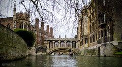 The Bridge of Sighs (dgoomany) Tags: england cambridge university universityofcambridge education higheducation smart intelligent colleges rivalry bridgeofsighs bridge sighs river rivercam punting boat architecture old oldbuildings classical gothic stone stonework sculptures