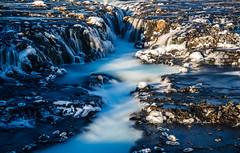 Brarfoss (dawvon) Tags: iceland brarfoss landscape winter travel nature waterfall nordic snow suurland europe season ice lveldisland republicoficeland southernregion sland south