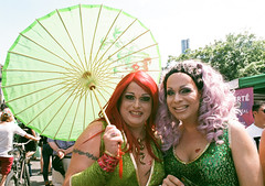 Make you Green with Envy (Georgie_grrl) Tags: portrait toronto ontario green love beauty community friendship pride celebration event parasol pentaxk1000 lovely fabulous dragqueens fashionable lgbtq rikenon12828mm faaaaabulous torontopride2016