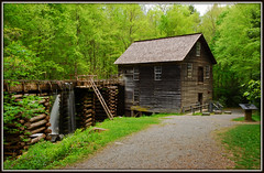 Mingus Mill - Explore #84 (Jerry Jaynes) Tags: park trees mountains water river nc northcarolina explore ladder smokymountains gristmill raceway greatsmokymountainsnationalpark watertrough timesgoneby mingusmill nikkor1685vr gsmnp033edcf