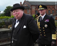 SVR 1940's Weekend (2016) - 08 (Row 17) Tags: uk greatbritain england people man men uniform unitedkingdom britain candid event 1940s gb uniforms worcestershire reenactment kidderminster