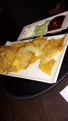 #food #sauces #nachos #cheese #red #white #green #unhealthy #snack #hotel #hungry (laurenbridge12) Tags: food sauces nachos cheese red white green unhealthy snack hotel hungry
