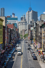 View of East Broadway in Chinatown from the Manhattan Bridge (diana_robinson) Tags: nyc newyorkcity chinatown manhattanbridge eastbroadway eastbroadwayfrommanhattanbridge