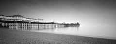 Reaching Out (GlennDriver) Tags: blackandwhite bw white black beach water monochrome sussex mono coast pier brighton long exposure