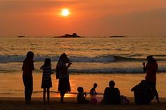 At The Beach For Sunset (Alan1954) Tags: sunset holiday beach srilanka bentota 2014 platinumpeaceaward