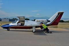 Maverick Twinjet 1500 (skyhawkpc) Tags: copyright allrightsreserved gverver airshow nikon longmontairportexpo 2016 vancebrandmunicipalairport longmont co klmo lmo aviation maverick twinjet 1500 6 n411kt