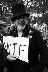 March for Europe, London, 2nd July 2016 (fabiolug) Tags: street leica uk people blackandwhite bw signs color london monochrome hat sign march blackwhite europe candid politics voigtlander rally streetphotography eu parliament piccadilly rangefinder wideangle monochrom wtf remain biancoenero 25mm skopar londonist leicam voigtlander25mmf4 25mmcolorskopar voigtlander25mm voigtlander25mmf4colorskopar mmonochrom leicammonochrom leicamonochrom voigtlander25mmcolorskoparf4 brexit marchforeurope nobrexit article50