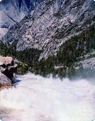 Nevada Fall Precipice Yosemite 1979 (niiicedave) Tags: california waterfall yosemitenationalpark oldpictures mercedriver nevadafall
