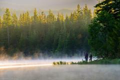 Morning Adventures.. (Robie..) Tags: trilliumlake oregon nikond750 sunrise fishing photographer fog