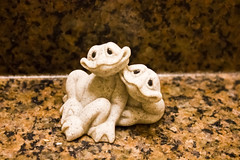 Froggy pair (Genevievery) Tags: sculpture stilllife counter frogs