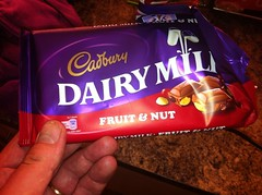 Snack - May 5 - Cadbury's fruit and nut chocolate bar (Two Fat Laddies) Tags: blog chocolate snack diet cadburys unhealthy dieting fruitnut iainpope twofatladdies uploaded:by=flickrmobile flickriosapp:filter=nofilter