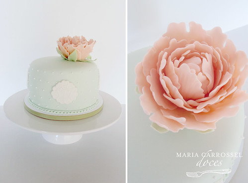 Peonia Cake - Peach & Mint