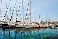 Puerto Mogan - Gran Canaria (Mark Wordy) Tags: grancanaria town sailing harbour yachts masts canaryislands puertomogan portmogan