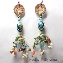 13.05.06_E19_GhostoftheNavigator_02 (Heather Kelly Glass) Tags: net glass skull olive salmon shell peacock jewellery copper seashell earrings nautical rhyolite knots fishingnet freshwaterpearl piratetreasure 4ply 2013 waxedlinen botmo ghostofthenavigator flamepatina 52pairchallenge curiousbead
