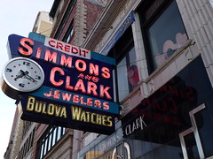 Simmons & Clark (army.arch) Tags: clock sign mi neon michigan detroit jewelry jeweler simmonsandclark