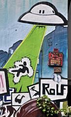 HH-Installations 811 (cmdpirx) Tags: wood urban streetart color colour art cutout painting tile stencil paint panda artist cd glue hamburg kachel cement can spray tape tiles lp drug hh farbe schablone strassenkunst zement styropor styrodur styropur microballoon