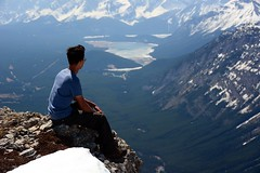 Zhan (Marko Stavric) Tags: mountain lake canada mountains kananaskis rockies spring nikon view hiking lakes may rocky hike alpine alberta summit hiker zhan scramble scrambling d7100 opalridge