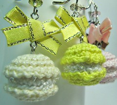 Amigurumi Earrings - Macarons in Yellow - Handmade Miniature Crochet Jewelry Dangle Earrings (Ellyne (*)) Tags: yellow handmade amigurumi macaron handmadejewelry handmadeearrings crochetjewelry dangleearrings crochetearrings earringdangles amigurumijewelry macaronearrings picmonkey:app=editor amigurumiearrings