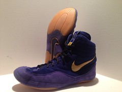 Nike Inflict Olympic Shoe. Size 11. Excellent condition. (Locke1015 Wrestling) Tags: blue original 2 two west dan vintage gold ultimate nike german asics olympic split flex adidas sole ultra rare xl oe pursuit gable p2 pursuits 88s rulon equipments aquas p2s inflict friestil rulons inflicts