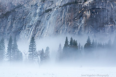 Granite and Fog (Jared Ropelato) Tags: park winter jared snow nature rock river landscape photography waterfall nationalpark rainbow outdoor environmental merced sierra photograph yosemite halfdome sierras bridalveil elcapitan valleyview enviro elcap tunnelview 2013 ropelato ropelatophotography